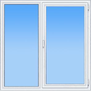 пластиковое двустворчатое окно