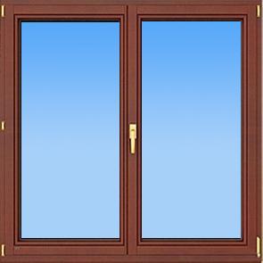 деревянное двустворчатое окно